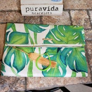 Palm Clutch and Pura Vida Original
